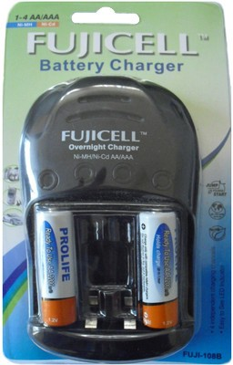 Buy Fujicell 108B (with 2 x 2200 NiMH Ready to use) Battery Charger: Camera Battery Charger