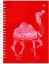 Karunavan Animal Kingdom Camel Red Journal Spiral Binding