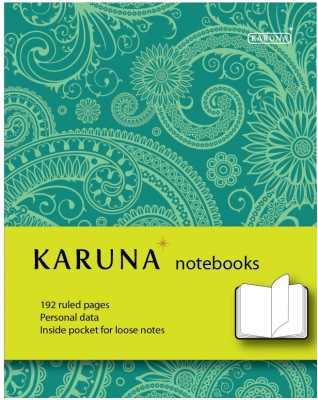Buy Karunavan Paisley Series Green and Light Green Band Journal Hard Bound: Diary Notebook