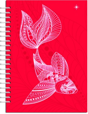Buy Karunavan Animal Kingdom Fish Red Journal Spiral Bound: Diary Notebook