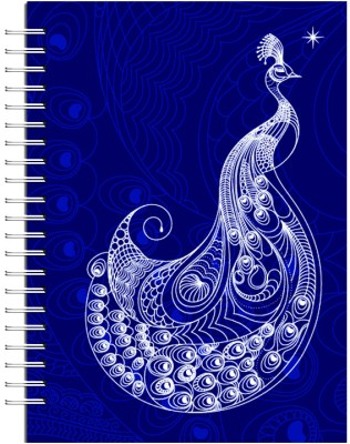 Buy Karunavan Animal Kingdom Peacock Purple Journal Spiral Bound: Diary Notebook