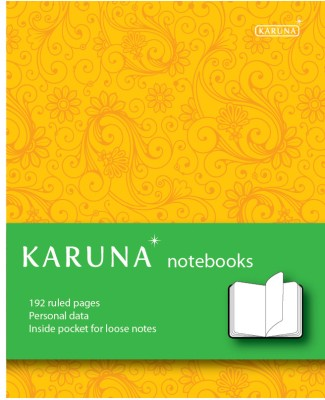 Buy Karunavan Paisley Series Yellow and Green Band Journal Non Spiral Hard Bound: Diary Notebook
