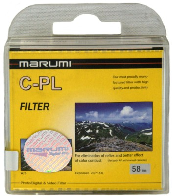 Buy Marumi 58 mm Circular Polarizer Polarizing Filter (CPL): Filter