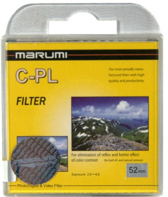 Buy Marumi 52 mm Circular Polarizer Polarizing Filter (CPL): Filter