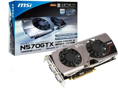 Buy MSI NVIDIA N570GTX Twin Frozr III PE/OC 1.25 GB GDDR5 Graphics Card: Graphics Card