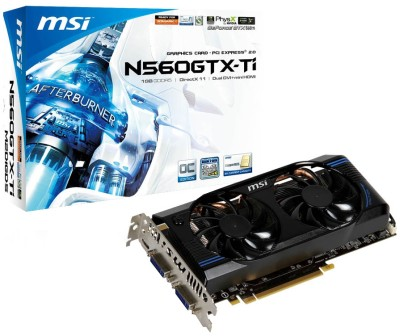 Buy MSI NVIDIA N560GTX-Ti M2D1GD5/OC 1 GB GDDR5 Graphics Card: Graphics Card