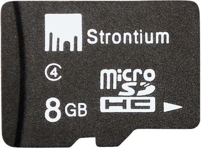 Buy Strontium MicroSD Card 8 GB Class 4: Memory Card