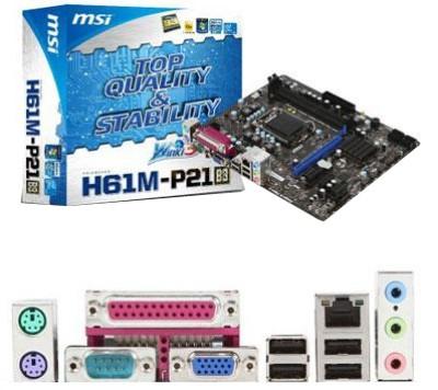 Buy MSI H61M-P21 (B3) Motherboard: Motherboard