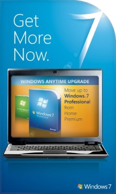 Buy Microsoft Windows Anytime Upgrade Win 7 Home Premium to Win 7 Professional 32/64 bit: Operating System