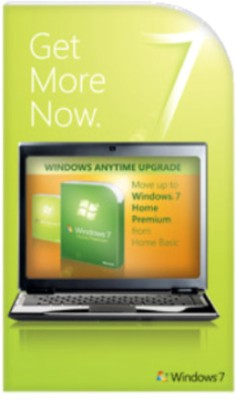 Buy Microsoft Windows Anytime Upgrade Win 7 Home Basic to Win 7 Home Premium 32/64 bit: Operating System