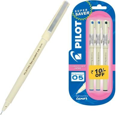 Buy Pilot Hi-Techpoint 05 (Pack of 3) Fineliner Pen: Pen
