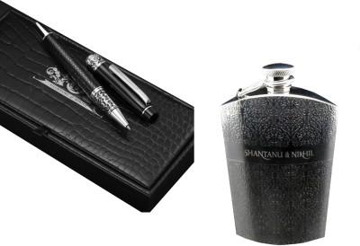 Buy Shantanu & Nikhil (Roller Ball Pen Hip Flask) Combo Roller Ball Pen: Pen