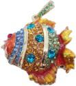 Microware Golden Fish Shape Jewellery Designer Pen Drive 4 GB - Golden