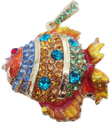 Microware Golden Fish Shape Jewellery Designer Pen Drive 4 GB (Golden)