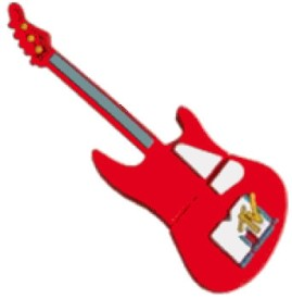 Microware Guitar Red Shape Designer 4 GB Pendrive