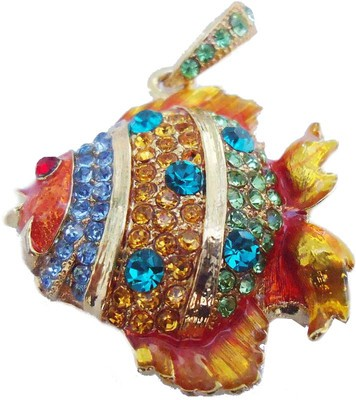 Microware Golden Fish Shape Jewellery Designer Pen Drive 8 GB