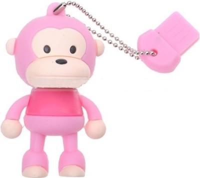 Microware Monkey Pink Shape Designer 4 GB Pendrive