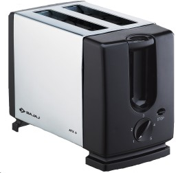 Bajaj ATX 3 Auto Pop 2 Slices SS Pop Up Toaster - Silver And Black