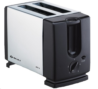 Buy Bajaj Majesty ATX 3 Auto Pop 2 Slices SS Pop Up Toaster: Pop Up Toaster