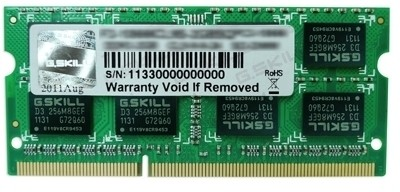 Buy G.Skill SQ DDR3 2 GB (1 x 2 GB) Laptop RAM (F3-10666CL9S-2GBSQ): RAM