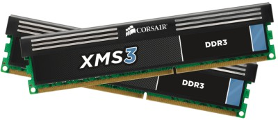 Buy Corsair XMS3 DDR3 8 GB (2 x 4 GB) PC RAM (CMX8GX3M2A1600C9): RAM