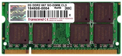 Buy Transcend DDR2-667/PC2-5300 DDR2 2 GB Laptop RAM (JM667QSU-2G): RAM