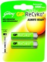 Godrej GP ReCyko AA (2 Pcs - Pre-Charged) Rechargeable Battery