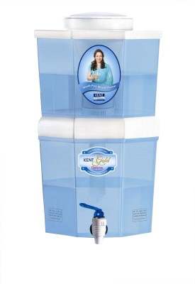 Kent Gold Optima 10 L Gravity Based Water Purifier (White, Blue)