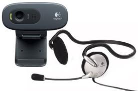 Logitech C270h HD Webcam with Headphone