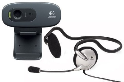 Logitech C270h HD Webcam with Headphone
