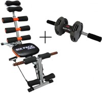 IBS Sixpackabs Rocket Twister Abrockettwister Six Packs Wonder Core Zone Flex Care Home Fitness Pump Gym Sixpack Cruncher Pack Body Builder WITH Bodi Pro Roller Ab Exerciser (BLACK)