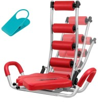 Abrockettwister Ab Rocket Twister Total Body Fitness Home Gym Machine Abdominal Ab Exerciser (Red)