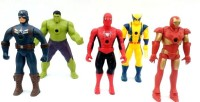 Asa Products Action Figure (Red, Yellow, Green, Red, Blue)