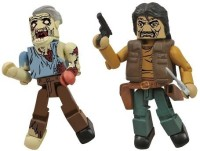 Diamond Select The Walking Dead Minimates Wave 4 Governor And Jaw Zombie (Multicolor)