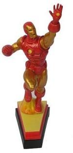 """Marvel Action Figures Marvel Avengers Resin Iron Man On Letter Base """"V"""""""