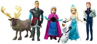STERLING Frozen Characters Large Size 12CM Action Figures - Set Of 6 Doll Toys Cake Toppers Anna Elsa Kristoff Olaf Sven (Multicolor)