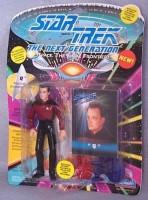 Playmates 4.5inch Tom Paris Mutated Beyond The Transwarp Barrier From The Episode Threshold- Star Trek: Voyager (Blue)