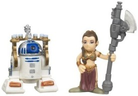 Star Wars Galactic Heroes Mini 2Pack R2D2 With Serving Tray Princess