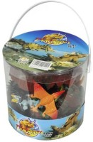 Hingfat Giant Bucket Of Dinosaur Action Figures Playset - 32 Dinosaurs And Accessories (Multicolor)