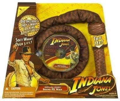 Indiana Jones Action Figures Indiana Jones Hasbro Sound FX Whip & DVD
