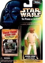 Star Wars Action Figures Star Wars Power of the Force Freeze Frame Admiral Ackbar