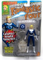 Marvel Action Figures Marvel Superheroes Fantastic Four Invisible Woman With Catapult