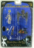 NECA Tim Burton's The Nightmare Before Christmas Series 4 Action Figure Mummy Boy & Bat Kid (Multicolor)