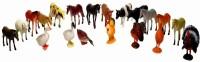 LAVIDI 20 In 1 100% Non Toxic Rubber Animal Set For Kids (Multicolor)