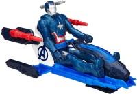 Hasbro Marvel Avengers Titan Hero Series Iron Patriot Figure With Arc Thruster Jet Vehicle (Blue)