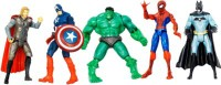 LAVIDI Super Hero 5 In 1 Action Figure For Kids (Multicolor)