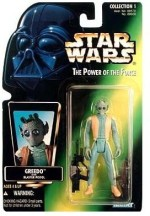 Star Wars Action Figures Star Wars Power of the Force Green Holofoil Card Greedo Action Figure