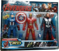 Shop & Shoppee Avengers Super Power Heroes 3 In 1 Action Figure Set (Multicolor)