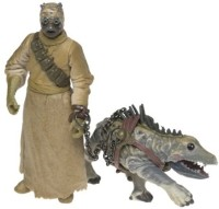 Hasbro Tusken Raider & Massiff * Star Wars Episode 2 Attack Of The Clones 2002 Action Figure & Accessories (Brown)