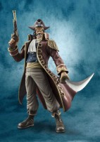 Megahouse One Piece Portrait Of Pirates Dx Gol D Roger Pvc Ex Model (Multicolor)
